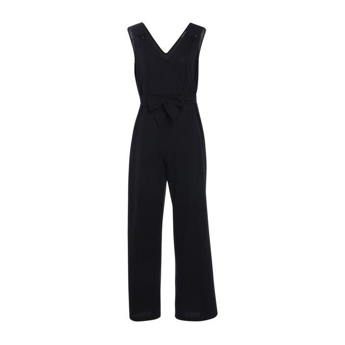 Combinaison pantalon bretelles noir femme