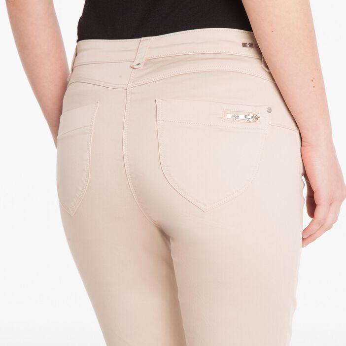 Pantalon satiné beige femme