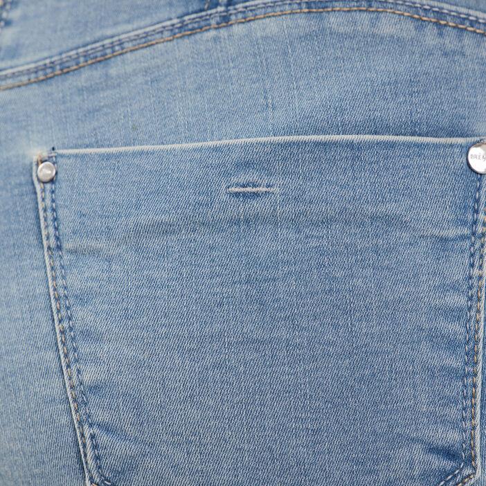 Short droit taille standard denim double stone femme