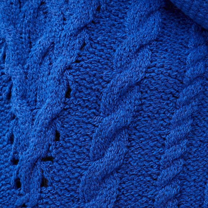 Pull manches longues bleu electrique femme