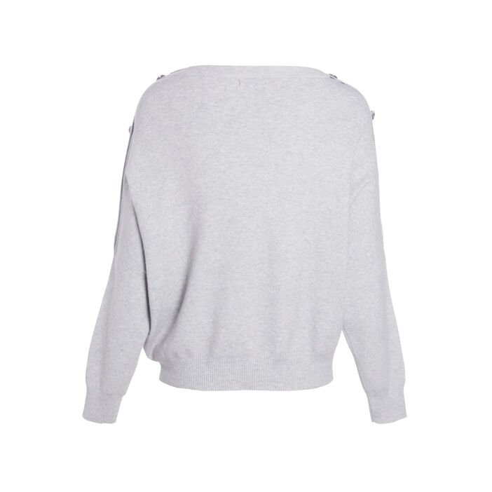 Pull manches longues gris clair femme