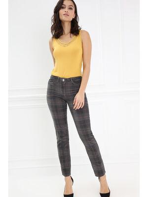 Pantalon taille standard gris fonce femme
