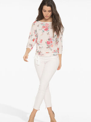 Pantalon 78eme avec zips vieux rose femme