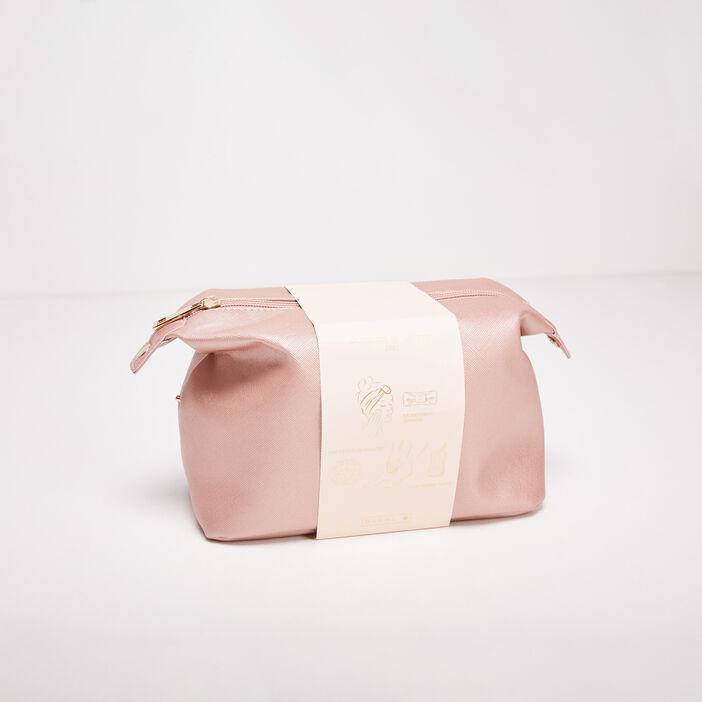 Trousse avec accessoires rose clair femme