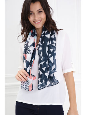 Foulard finitions ourlees vert emeraude femme