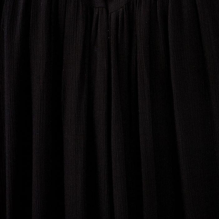 Robe évasée fluide noir femme