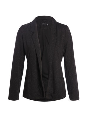 Veste droite paillettes noir femme