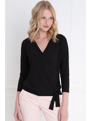T shirt manche longue noir femme