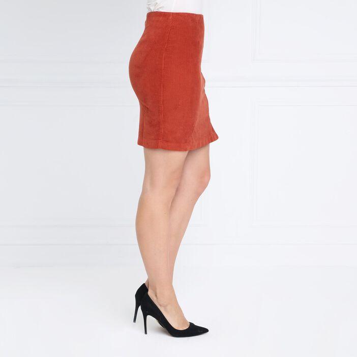 Jupe courte marron foncé femme