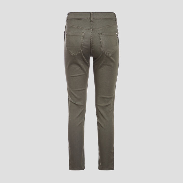 Pantalon réversible confortable vert kaki femme