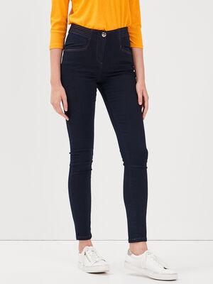 Jeans pres du corps denim brut femme