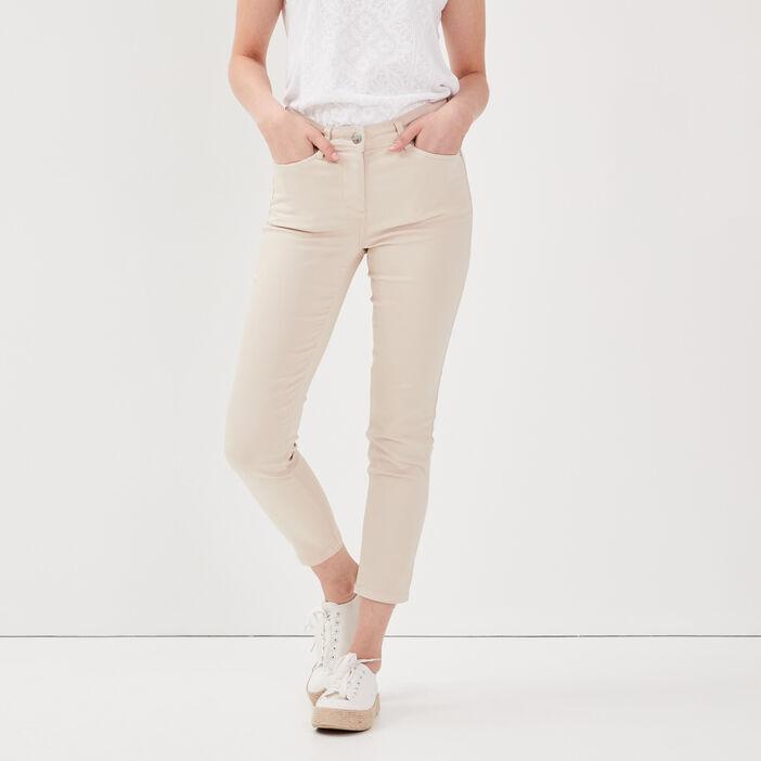 Pantalon ajusté sable femme