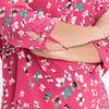 Blouse manches 34 a nouer rose fushia femme