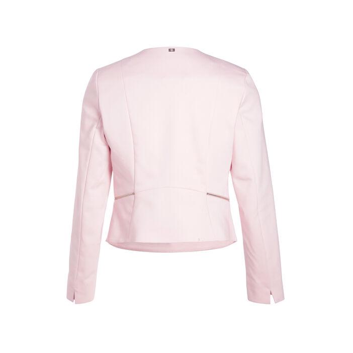 Veste unie à pans ouverts rose femme