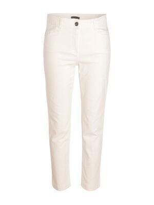 Jean blanc ecru femme