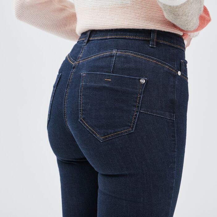 Jean slim taille standard denim brut femme