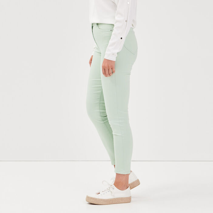 Pantalon léger toucher doux vert clair femme