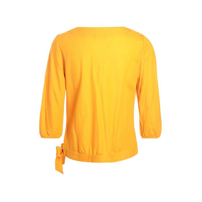T-shirt manches 3/4 jaune or femme