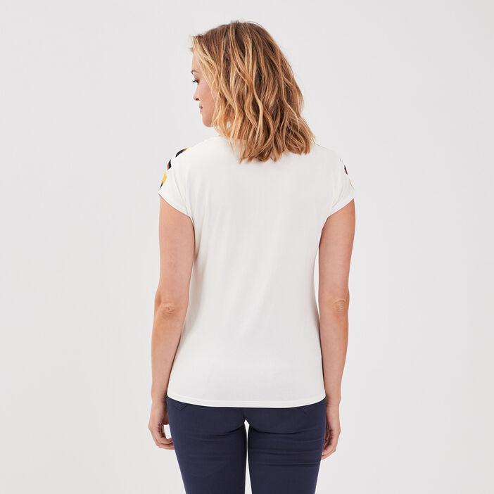 T-shirt manches courtes noué multicolore femme