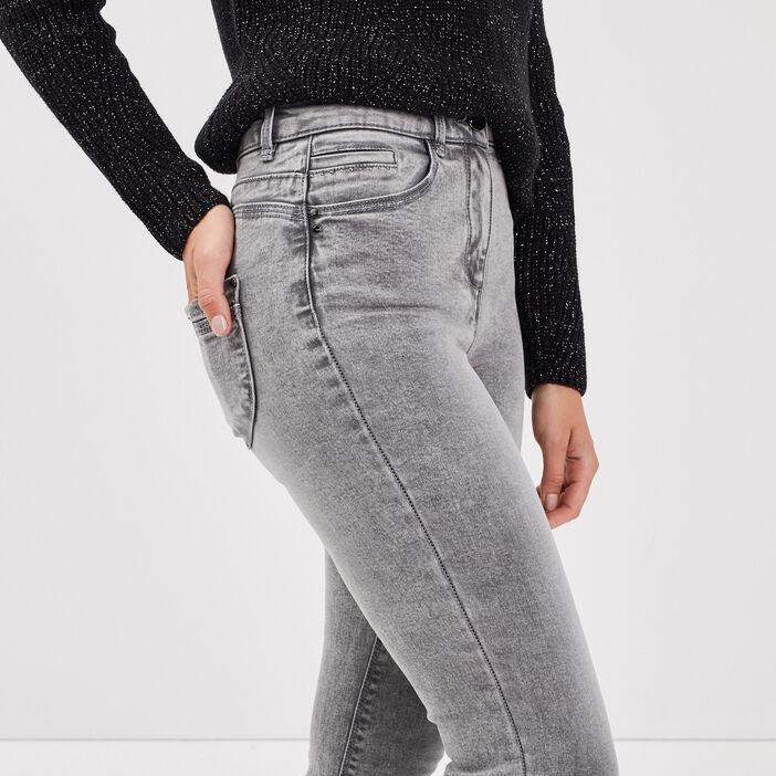 Jeans près du corps gris femme