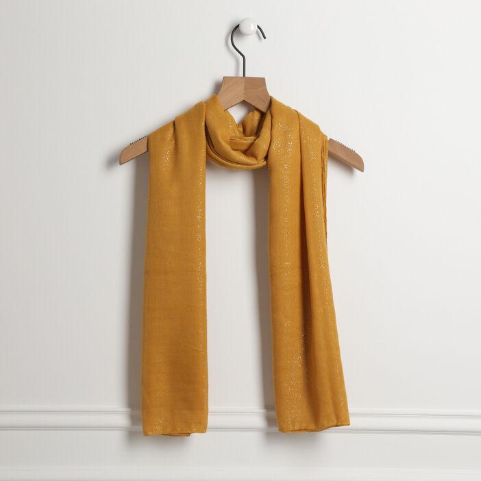 Étole rectangulaire paillettes jaune femme