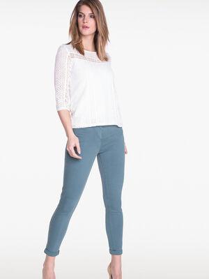 Pantalon 78eme fantaisie vert fonce femme