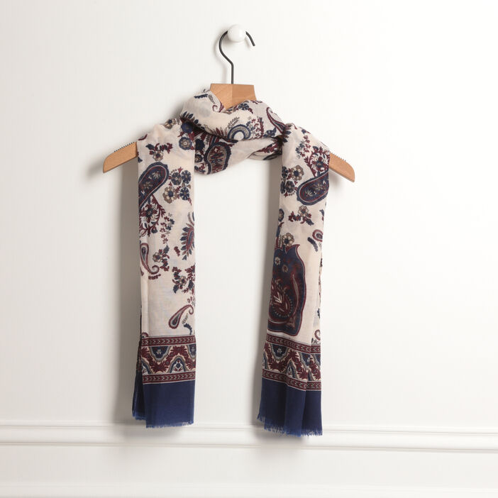 Foulard imprimé floral creme femme