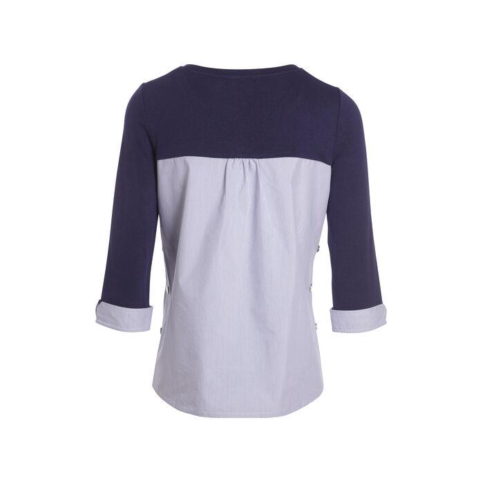 T-shirt manches 3/4 enjoy life bleu foncé femme