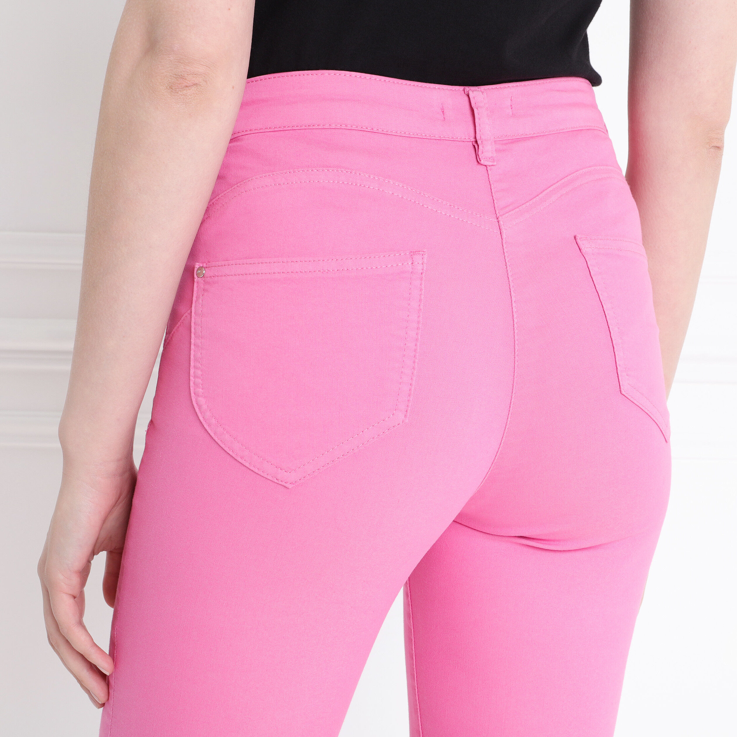 Léger FemmeBréal Doux Rose Fushia Toucher Pantalon ukOXPZi