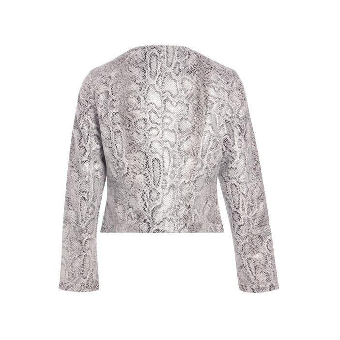 Veste cintrée zippée gris femme