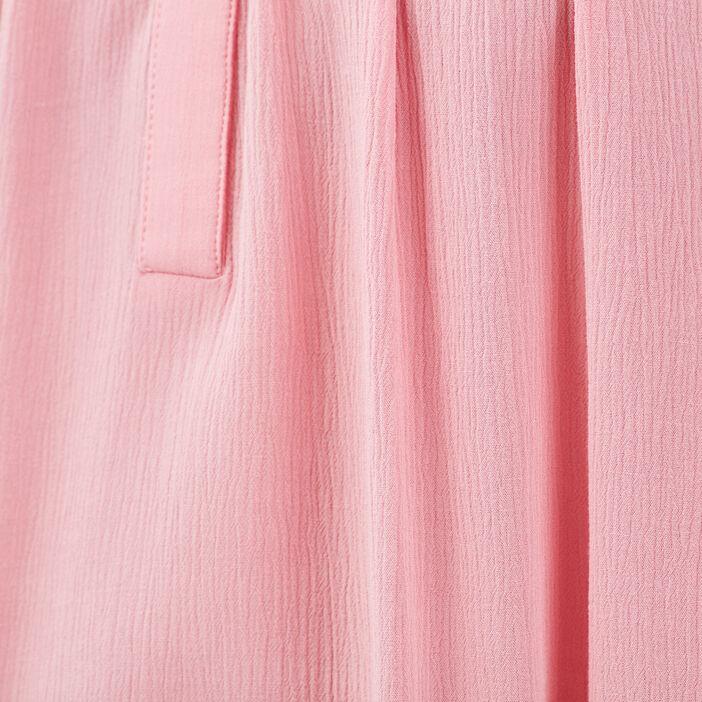 Blouse manches 3/4 rose vif femme