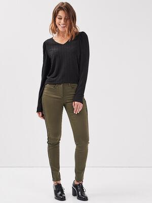 Pantalon vert kaki femme