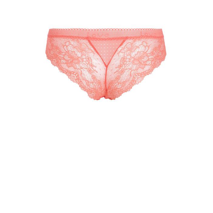 Culotte taille basse orange corail femme