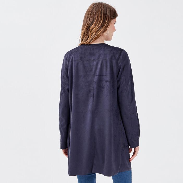 Manteau réversible camel femme