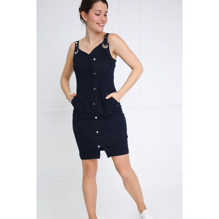 magasin en ligne aa625 29468 Robe ajustée à bretelle denim brut femme | Bréal