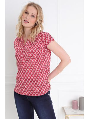efb148742f8 T shirt manches courte rouge femme