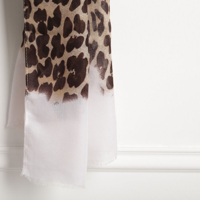Foulard imprimé animal sable femme