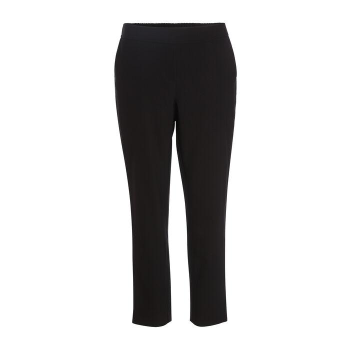 Pantalon cigarette 4 poches noir femme