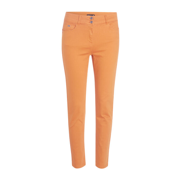 Pantalon 7/8 taille standard jaune moutarde femme