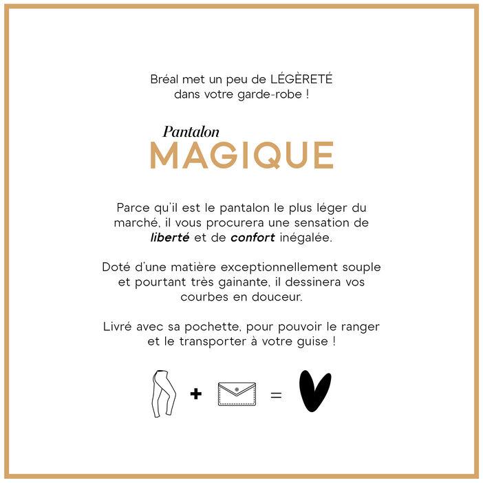 Pantalon léger toucher doux + pochette denim double stone femme