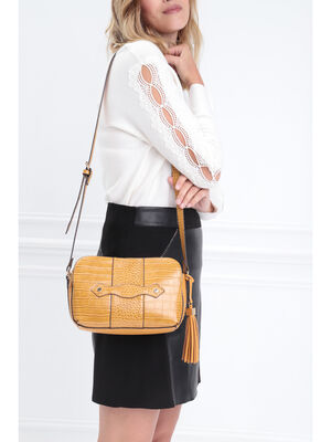 Sac besace a bandouliere jaune femme