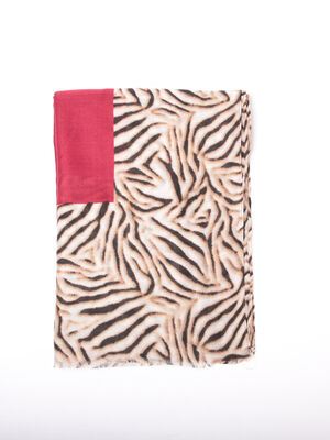 Foulard rouge fonce femme