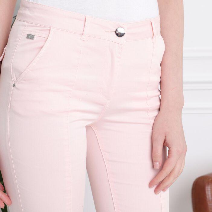Pantacourt taille standard rose clair femme
