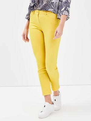 Pantalon ajuste details studs jaune femme