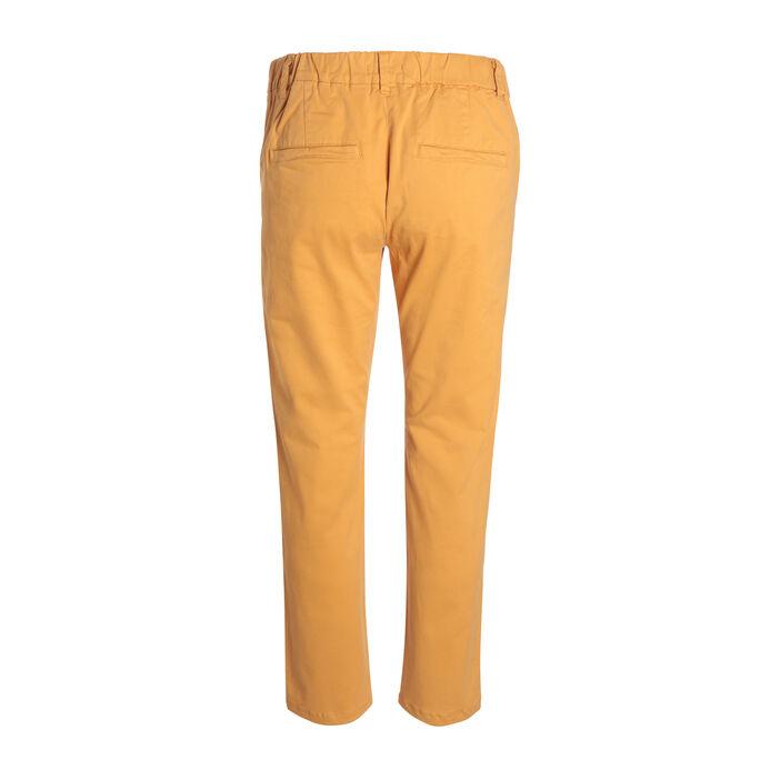 Pantalon chino taille standard jaune or femme