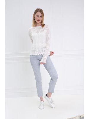 Pantalon taille standard 78 gris fonce femme