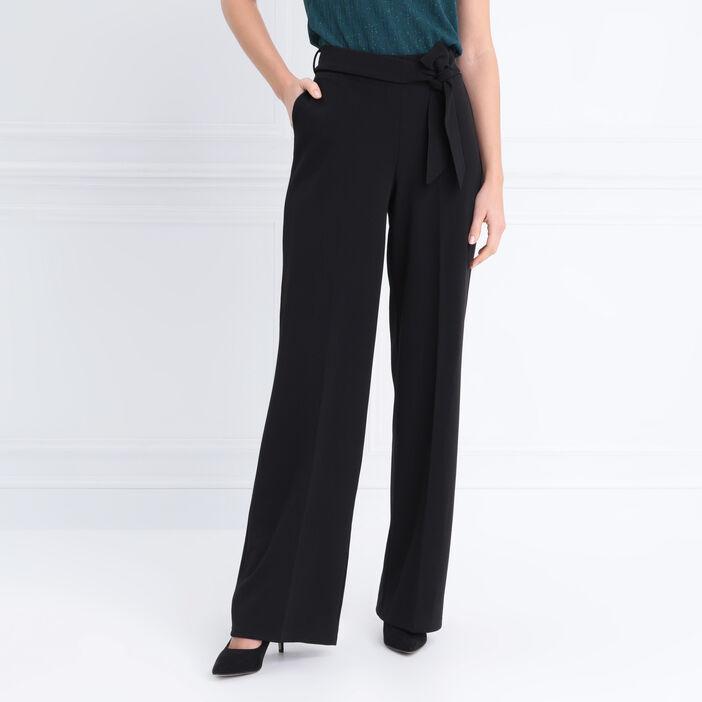 pantalon femme noir taille haute