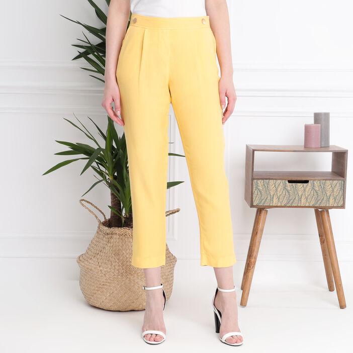 Pantalon7/8e taille standard jaune femme