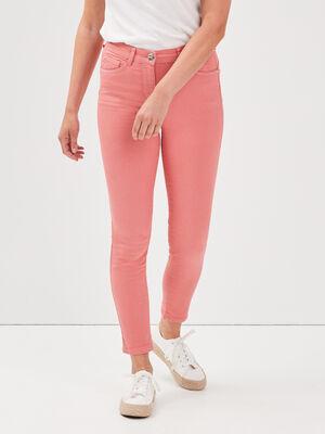 Pantalon leger toucher doux vieux rose femme
