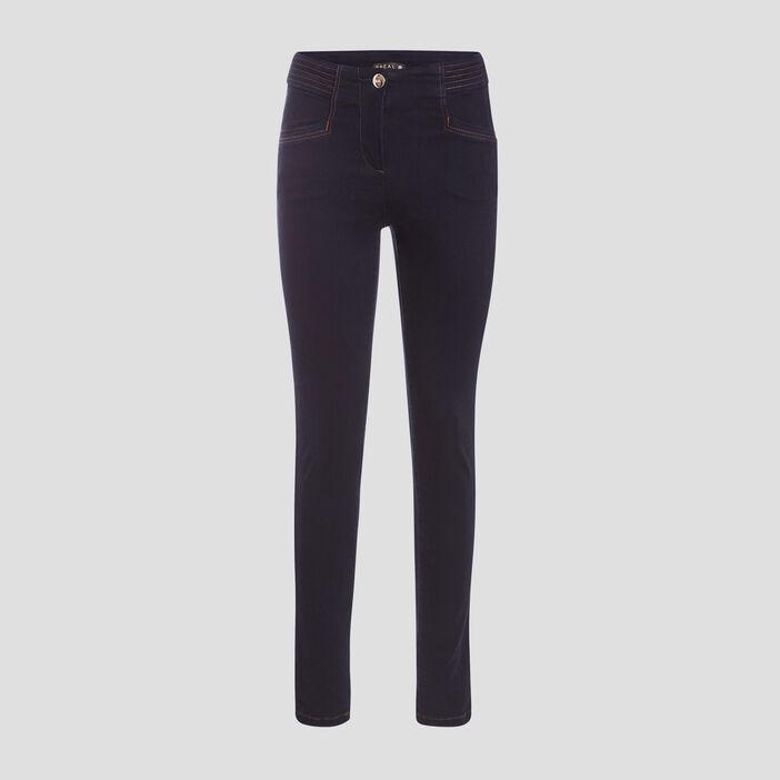 Jeans galbant 7/8 ème denim brut femme